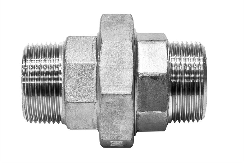Cone seat union male stainless steel