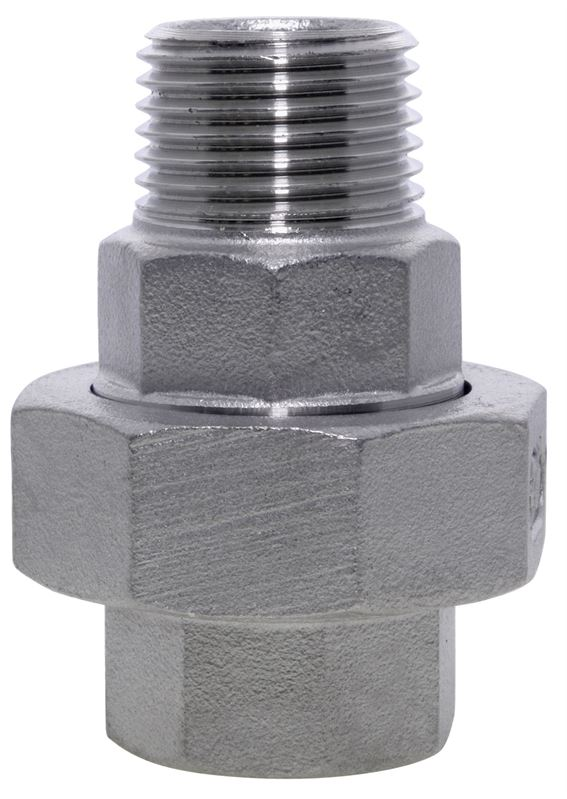 Union conical male female stainless steel