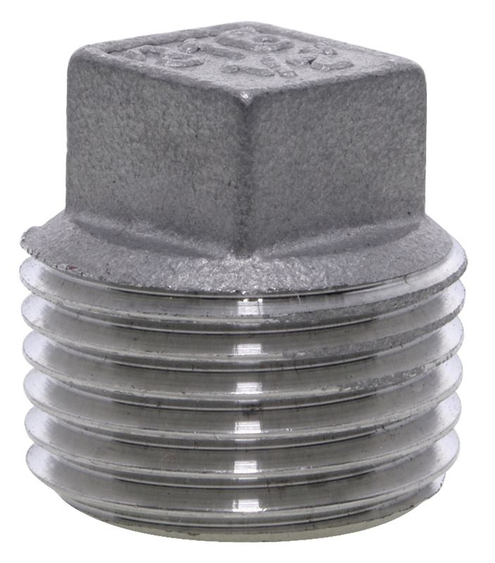 Square head plug stainless steel