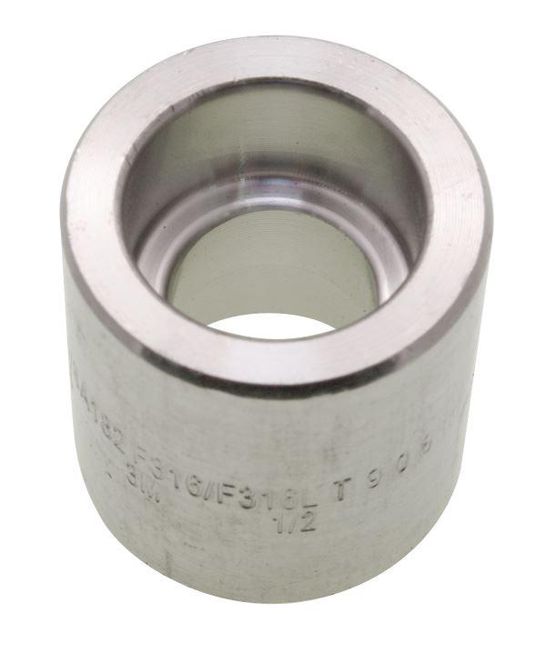 Reducing coupling socket weld stainless steel