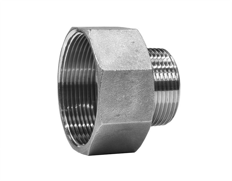 Reducing adaptor female male stainless steel