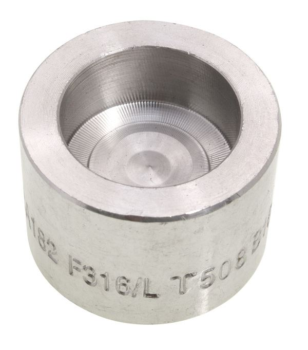 Quot round cap socket weld lb l stainless steel