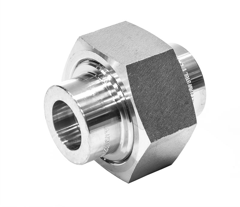 Union conical female socket weld lb stainless steel