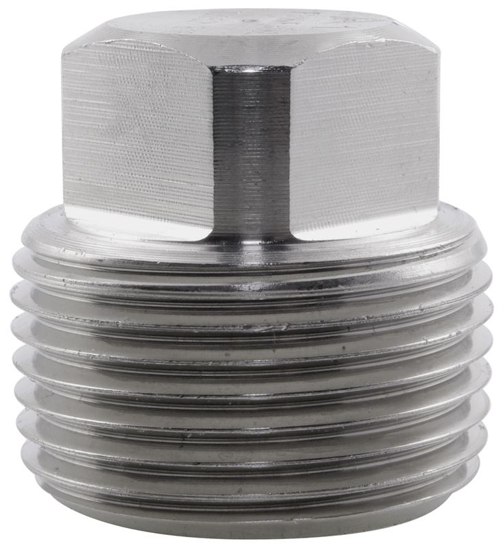Square head plug npt lb stainless steel