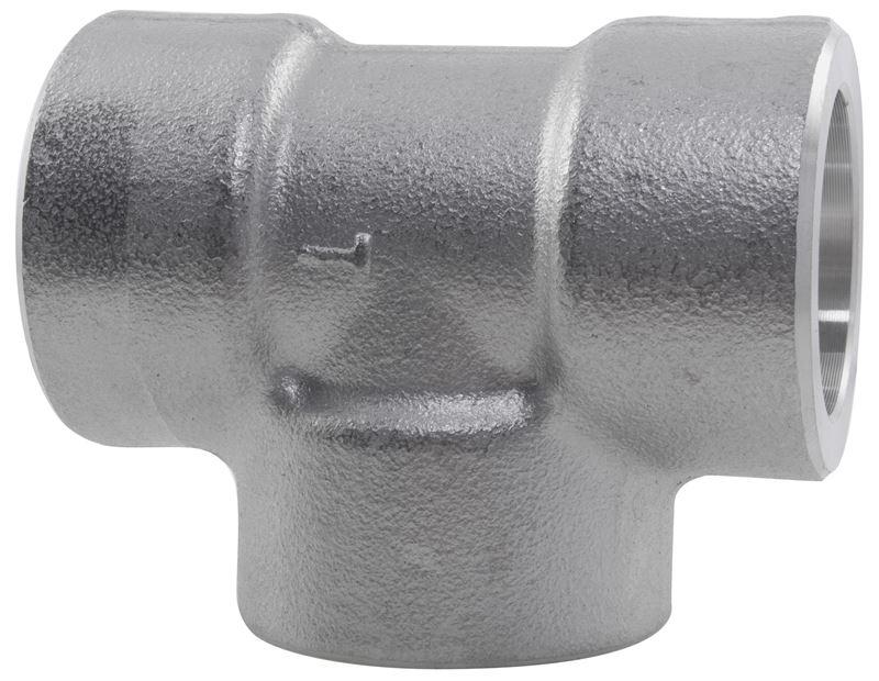 Reducing tee lb socket weld stainless steel