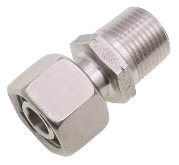 NPT Adjustable Male Standpipe Single Ferrule 316 Stainless Steel