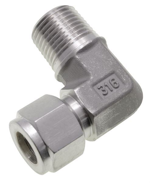 Male-Stud-Elbow-NPT-Twin-Ferrule