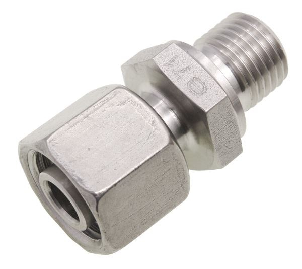 BSPP Adjustable Male Standpipe Single Ferrule Compression 316 Stainless Steel