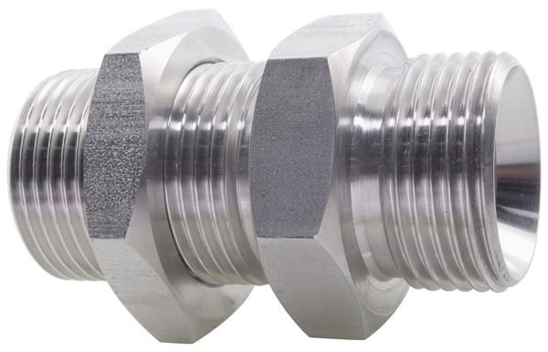 Hydraulic Male Bulkhead BSPP 316 Stainless Steel