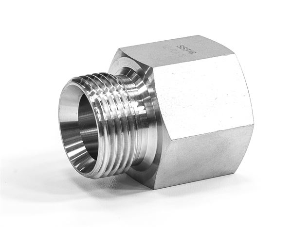 Equal Hydraulic Adaptor Female/Male NPT/BSPP 316 Stainless Steel