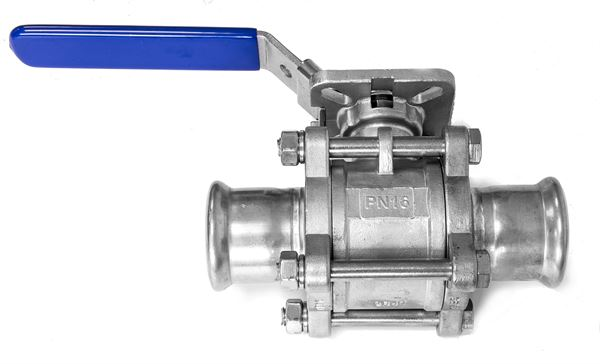 Press Fittings 3PC ball valve with Pressends