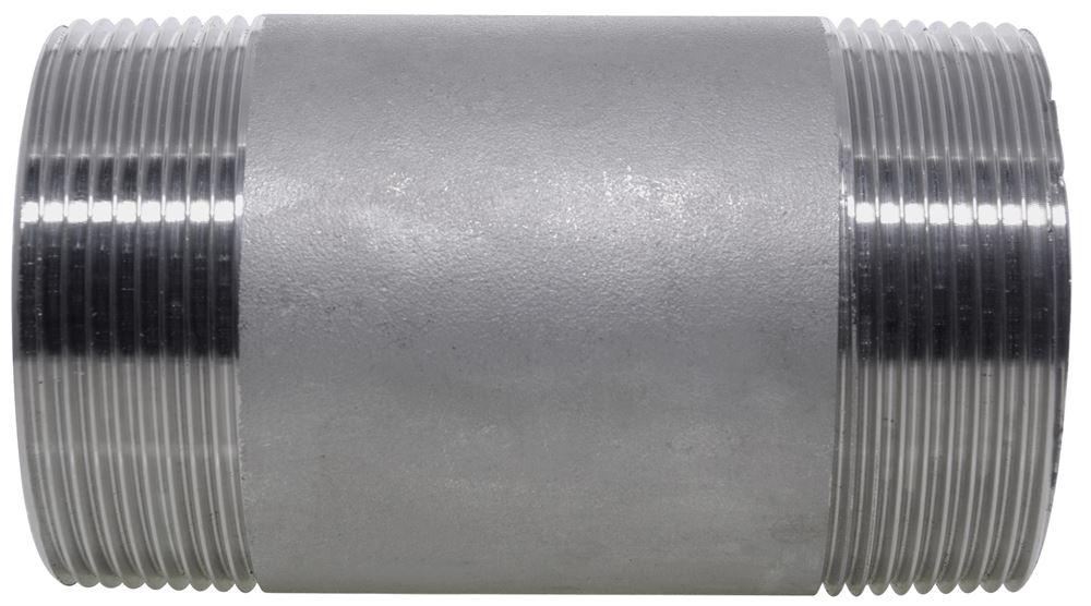 Npt Barrel Nipple 150lb 316 Stainless Steel Nero