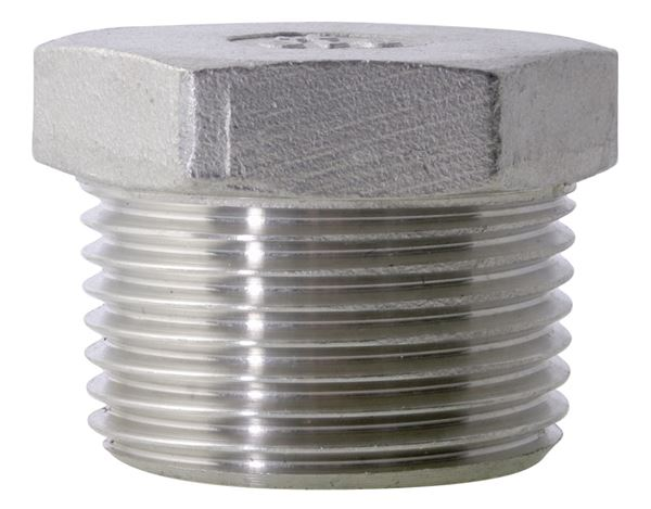 NPT Hexagon Plug 150LB 316 Stainless Steel