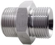 Hydraulic Hexagon Nipple BSPP/NPT 316 Stainless Steel