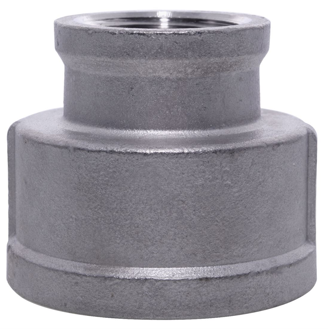 """1-1//2/"""" X 1/"""" BSPP Reducing Socket F//F 316 Stainless Steel 150LB Pipe Fitting"""