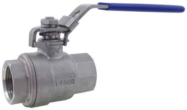 Two Piece Full Bore Ball Valve NPT 1000PSI 316 Stainless Steel