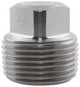 BSPT Square Head Plug 6000LB 316 Stainless Steel