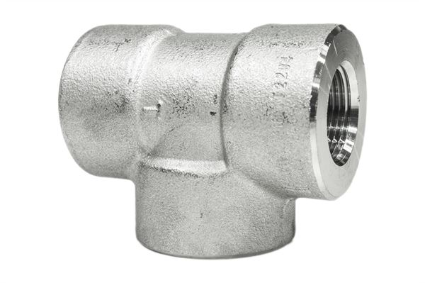 BSPT Equal Tee 3000LB 316 Stainless Steel