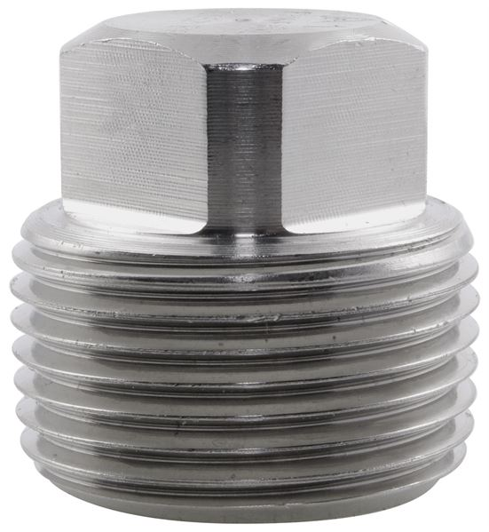 NPT Square Head Plug 6000LB 316 Stainless Steel