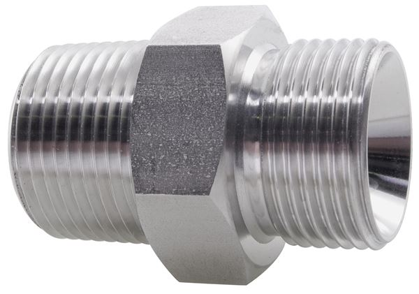 Hydraulic Hexagon Nipple BSPP/BSPT 316 Stainless Steel