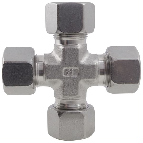 Equal Cross Single Ferrule Compression 316 Stainless Steel