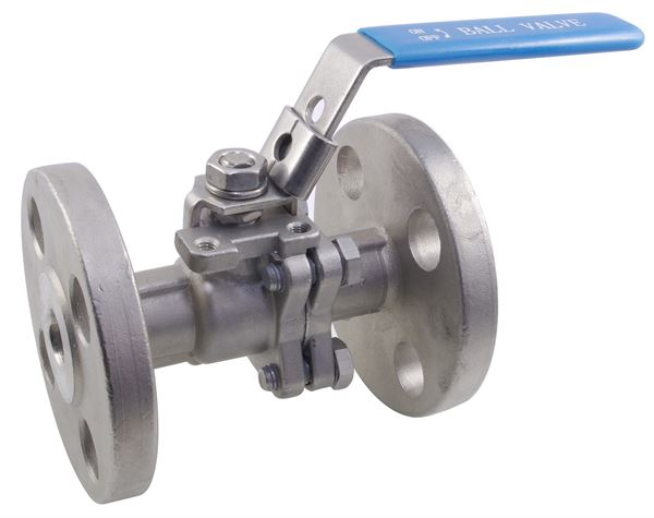 150LB Two Piece Flanged Full Bore Ball Valve 316 Stainless Steel